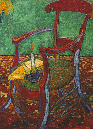 JG71~Gauguin-s-Chair-with-Books-and-Candle-Posters.jpg