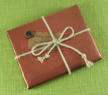 make your own hearts minds gift certificate a book wrapped in brownjpg - Make Your Own Gift Card