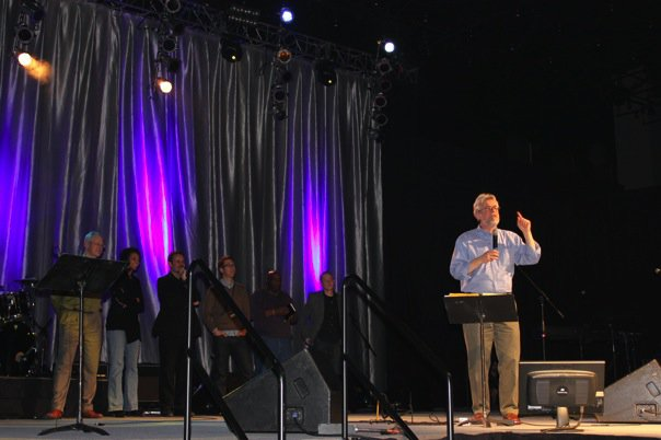 Musician and author Michael Card speaking on his Biblical